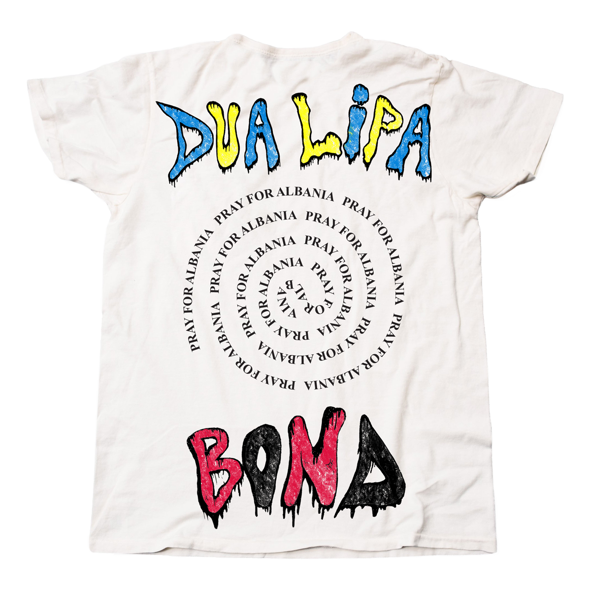 Dua - Pray for Albania T-shirt back